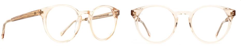 Das Bild zeigt Brillen von Einstoffen